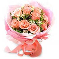 Majestic Arrangement of Twelve Long Stemmed Pink Roses